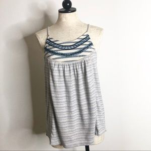 Lucky Brand blue bohemian tank top new with tags
